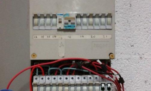 rénovation tableau  électrique Beauchastel Avant sans sécurité